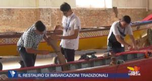 Studenti del Cini nel restauro di imbarcazioni