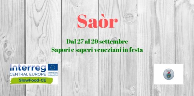 Saòr – Sapori e saperi veneziani in festa: date e programma