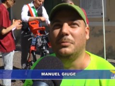 Tanti amici alla partenza di Manuel Giuge per Roma