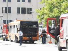 incendio autobus actv piazzale roma