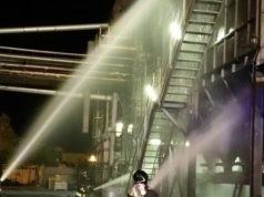 Incendio alla fonderia Simar di Porto Marghera