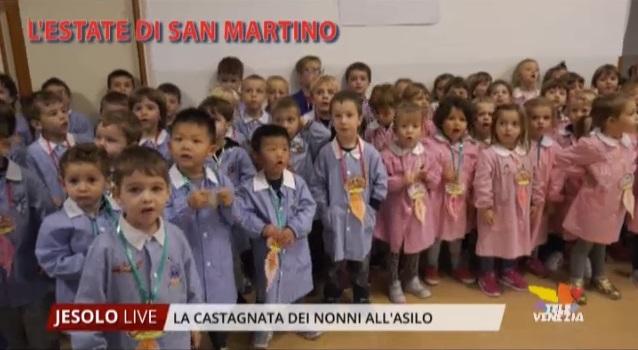 Castagnata dei nonni all'asilo Santa Giuliana di Jesolo - Televenezia