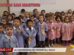 Castagnata dei nonni all'asilo Santa Giuliana di Jesolo