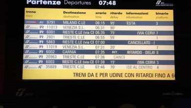 Treni in ritardo: guasto elettrico sulla linea per Udine