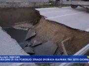 Voragine di Via Pordelio: la strada riaprirà tra 7 giorni