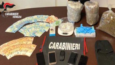 Ceggia, trovato con 3 chili di droga: arrestato 24enne