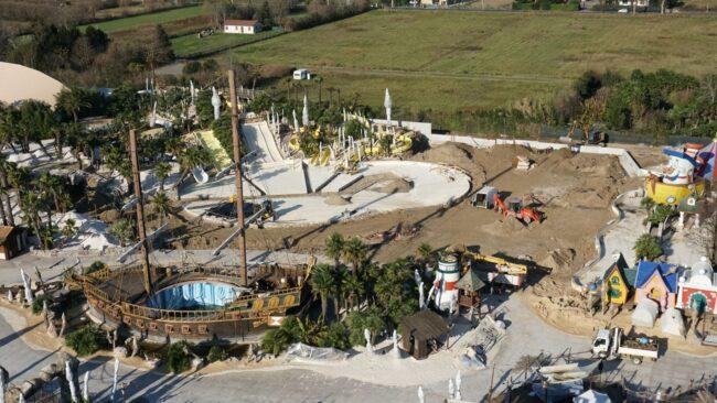 lavori area bimbi Caribe Bay