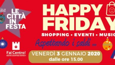 "Photo of Happy Friday 2020: il 3 gennaio con ""Aspettando i saldi"""