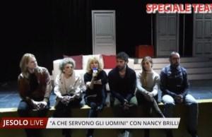 """Nancy Brilli a teatro con """"A cosa servono gli uomini"""""""