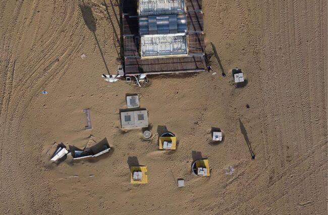 Bibione: i danni della mareggiata monitorati grazie al drone