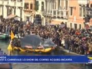 VIDEO: La Festa Veneziana sull'Acqua apre il Carnevale: il corteo acqueo incanta - Televenezia