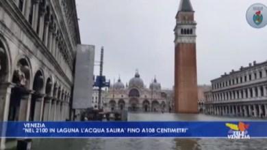 Venezia: nel 2100 il mare potrebbe arrivare a 108 cm