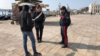Coronavirus: 20 persone denunciate in una sola sera a Venezia