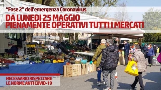 Mercati nel Comune di Venezia: tornano operativi dal 25 maggio