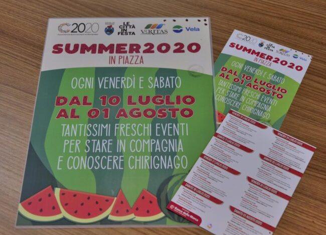 Summer 2020 a Chirignago: 8 serate di eventi. Programma