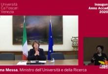 Ca' Foscari inaugura l'anno accademico 2020-2021