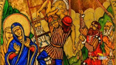 Via crucis in Vetro di Murano: la tredicesima stazione