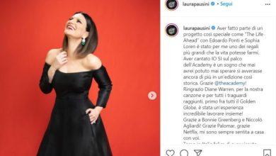 """Laura Pausini: sfuma il sogno Premio Oscar per """"Io sì/Seen"""" - Radio Venezia"""
