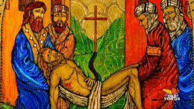 Via crucis in Vetro di Murano: la quattordicesima stazione