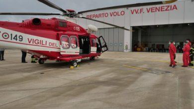 Nuovo elicottero consegnato ai Vigili del Fuoco di Venezia