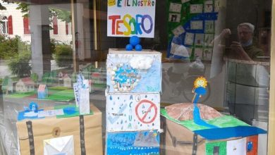 Scorzè: i disegni dei bambini popolano i negozi sfitti