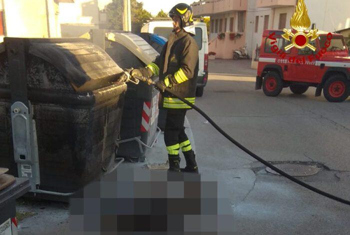 Chioggia, corpo carbonizzato vicino cassonetto incendiato - Televenezia