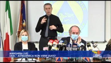 """VIDEO: Astrazeneca, Zaia: """"in Veneto non viene usato"""" - TeleVenezia"""