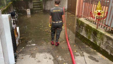 Maltempo e forti piogge: gli interventi dei vigili del fuoco