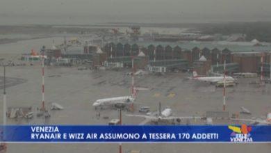 Ryanair e Wizz Air assumono a Tessera 170 addetti