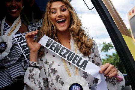 Mariam Habach fue ovacionada durante desfile en Filipinas