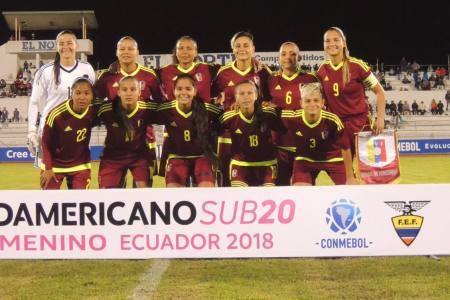 Vinotinto femenina sub 20 debutará ante Paraguay en el cuadrangular final