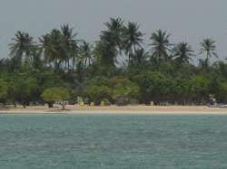 Playa en el parque nacional Morrocoy