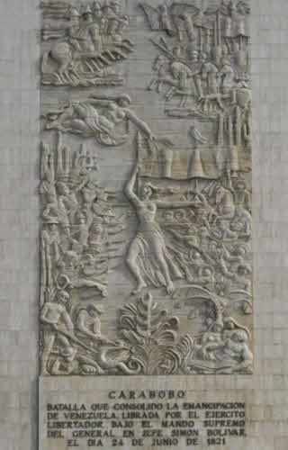 Monolito de la batalla de Carabobo en Los Próceres