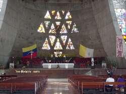 Altar del templo de la Virgen de Coromoto