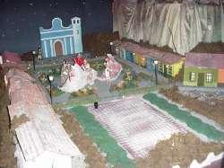 La maqueta del pueblito en navidad