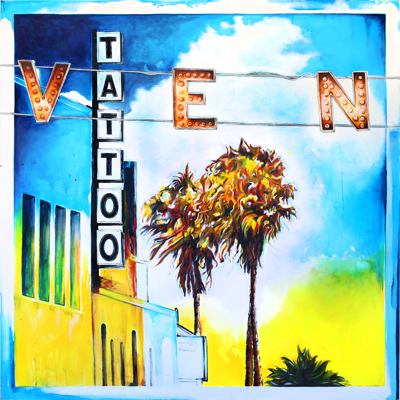 "Image: ""Venice & Windward"" Painted by Venice Beach Artist Patrick Marston"