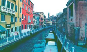 Venice canal - cover Venice by Venetians