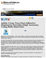 Ashby Cross Two-Part Adhesive Dispenser Provides High Accuracy Using Bulk Ma_Page_1
