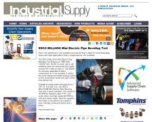 ESCO MILLHOG Mini Electric Pipe Beveling Tool - Industrial Supply Magazine