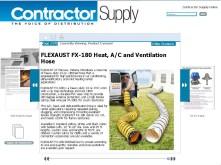 FLEXAUST FX-180 Heat, A_C and Ventilation Hose - Contractor Supply Magazine