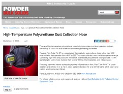 Flexaust High-Temperature Polyurethane Dust Collection Hose _ Powder_Bulk Solids_Page_1