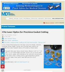 Laser Research Optics - CO2 Laser Optics for Precision Gasket Cutting_Page_1