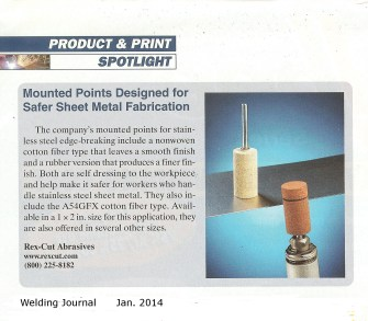 Rex-Cut Welding Journal Jan. 2014