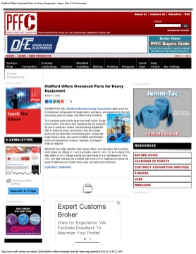 Stafford Offers Oversized Parts for Heavy Equipment - Paper, Film & Foil Con_Page_1