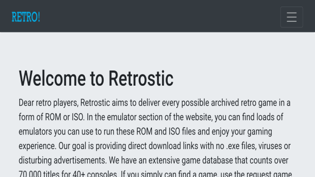 Retrostic Safe ROM Sites