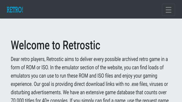 Retrostic Safe ROM Sites