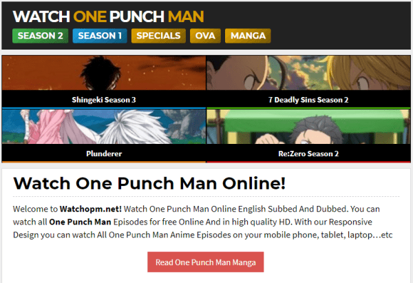 watchopm to read one punch man webcomic