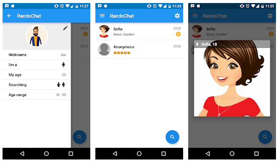 Randochat Chatroulette apps for android ios