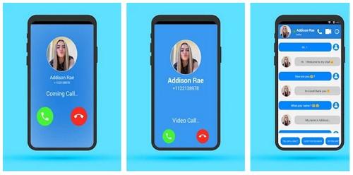 Addison Rae Fake call