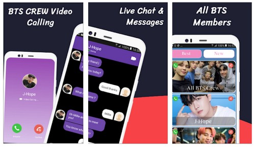 BTS Video Call and live Chat